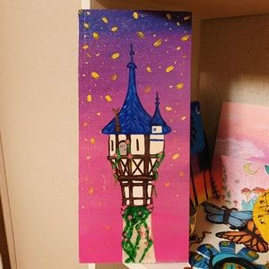 Disney Tangled Castle Painting